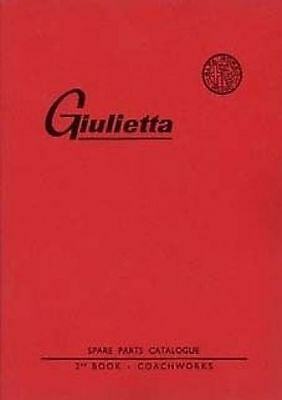 Alfa Romeo Giulietta Parts Manual For the body Catalogue paper book car