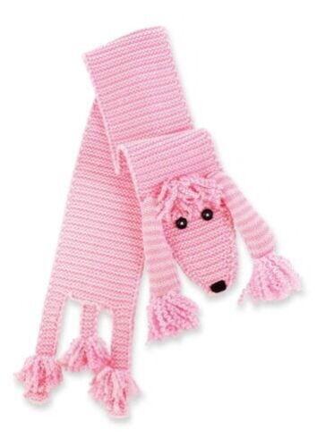 Pink Poodle Scarf - Mud Pie Knit Acrylic