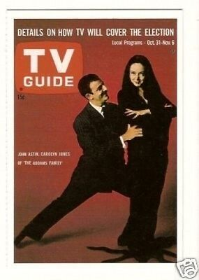 The Addams Family TV Guide Collector Card Have a Look! Addams Family-tv