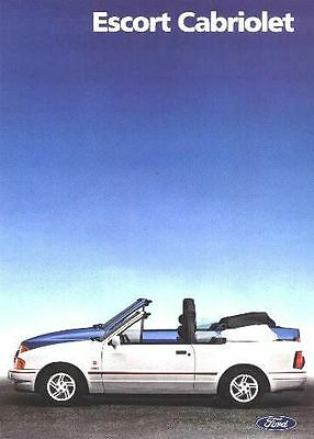 XR3i  FORD CABRIOLET SALES BROCHURE RS