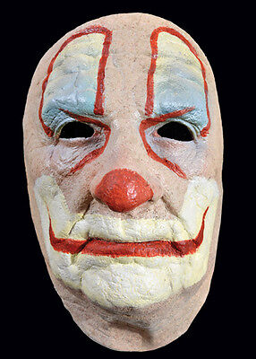 Old Man Clown Face Mask Scary Halloween Haunt Costume Accessory - Scarey Clown Face
