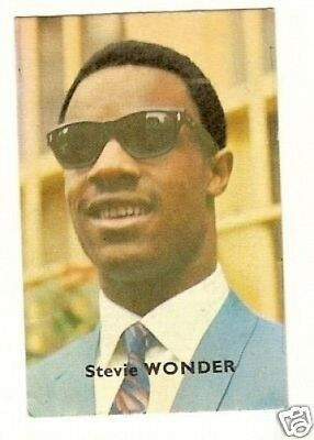 Stevie Wonder .  Vintage 1960s French Card