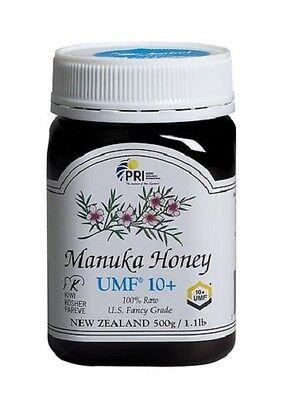 Pacific Resources Intl Manuka Honey UMF 10+,1.1LB/500G FRESH! E 5/2022-2DAY SHIP