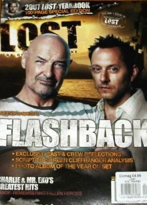 LOST OFFICIAL MAGAZINE - LOCKE & BEN COVER - FLASHBACK 2007 YEARBOOK #12A
