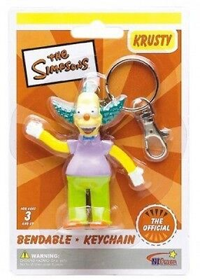 Simpsons Krusty the Clown  Bendy Figure Key Chain