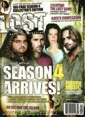 LOST OFFICIAL MAGAZINE - CAST COVER - SEASON 4 ARRIVES # 15A