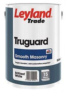5lt Leyland Truguard Exterior Trade Water Based Masonry Paint 16 Colours Ebay