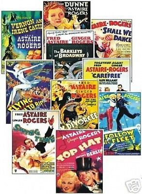 Fred Astaire Ginger Rogers Film Poster Trading Card Set