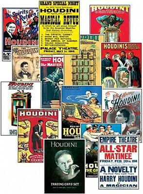 Harry Houdini Magician Magic Trading Card Set FREE UK POSTAGE