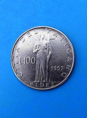VATIKAN 100 LIRE 1957 ☆ PIUS XII