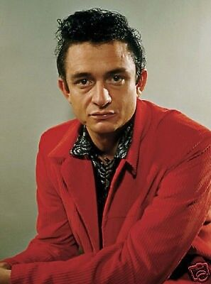 Johnny Cash Great New Colour 10x8 Photo #3