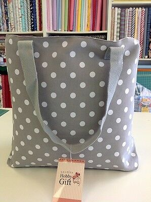 GREY SPOT TOTE BAG