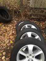 225/60/17 tires with Aluminum Wheels