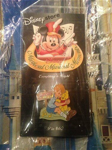 Disney pin Magical Musical Everything is Right Winnie Pooh Christopher Robbin