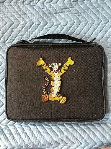 Poohs Pal Tigger Embroidery Pin Trading Book Bag for Disney Pin Collections NEW