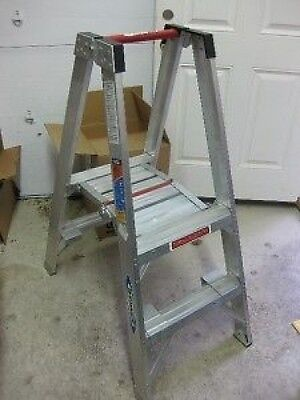Werner Pt372 300 Twin Step Aluminum Stockers Ladder
