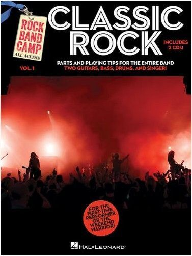 Rock Band Camp Classic PLAY Thin Lizzy T-REX BASS GUITAR DRUMS Music Book & CD