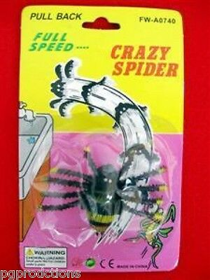 CRAZY PULL BACK SPIDER Running Bug Fake Prank Joke Toy Gag Scary Halloween   - Scary Halloween Magic Tricks