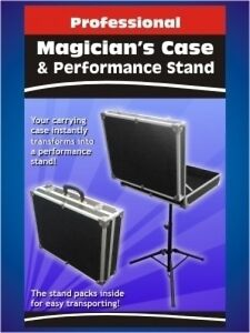 MAGICIAN CARRYING CASE Folding Table Base Metal Stand Magic Trick Prop Suitcase