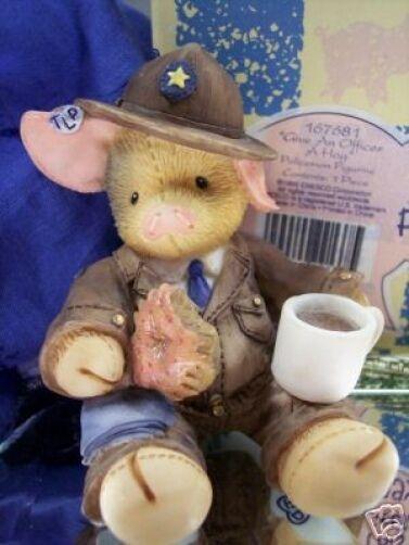This Little Piggy COP Give An Officer a HOG 167681 NIB * FREE USA SHIPPING