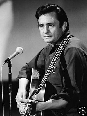 Johnny Cash Great New BW 10x8 Photo #2