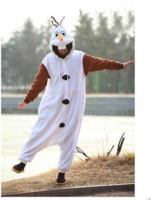 Olaf Bonhomme de Neige Onesiee Animal Kigurumi Pyjama Pull à Capuche Costume