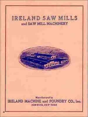 Ireland Saw Mills And Saw Mill Machinery 1920s Catalog - Reprint