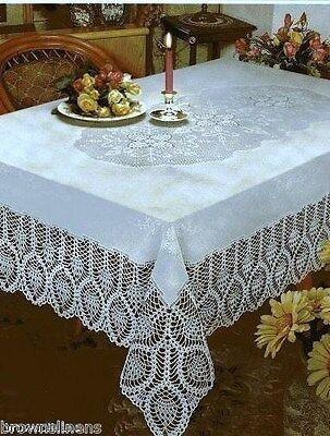 Lace Tablecloths (CROCHET LACE VINYL TABLECLOTH, VINTAGE)