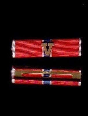 Bronze Star Medal - One Genuine US Bronze Star medal Ribbon bar with V for Valor device