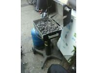 Gas BBQ for the garden and full gas bottle