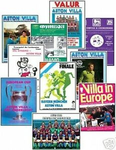 Aston Villa 1982 European Cup Winners Trading Card Set