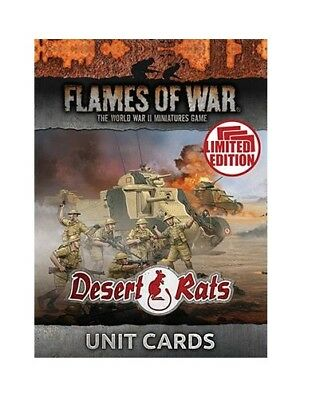 Flames of War British Desert Rats Unit Cards Limited Edition FW241U