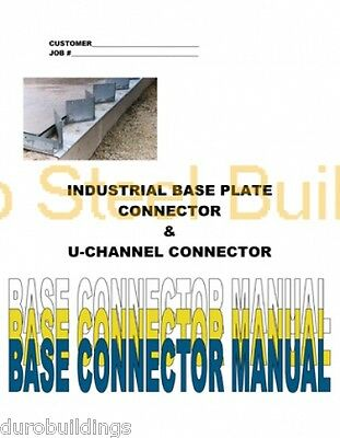 Duro Diy Steel Arch Metal Building Erection Base Plate Foundation Detail Manual