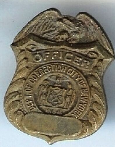 25 pc old Officer NYC Dept. Correction mini Badge