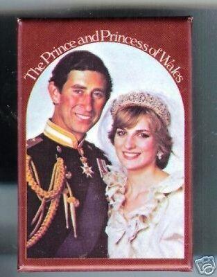 Old Princess DIANA + Prince CHARLES Wedding pocket MIRROR