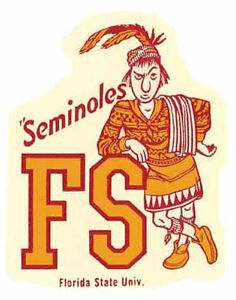 Florida State University    SEMINOLES   Vintage Style Travel Decal- Sticker