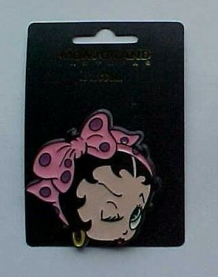 Betty Boop Plastic Head Shapped Pin Back Button  Vintage 1990's