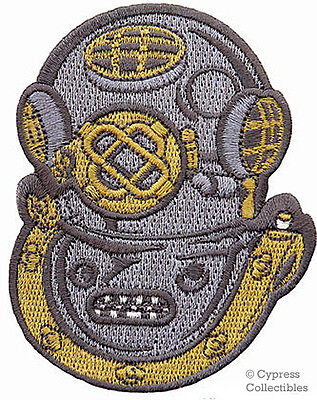 SCUBA DIVING Mark V Navy Helmet PATCH embroidered NEW iron-on MK-5 APPLIQUE gift