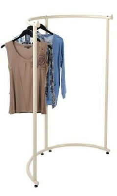 Half Round Clothing Rack Pipeline Collection Ivory Garment 37 12 X 55