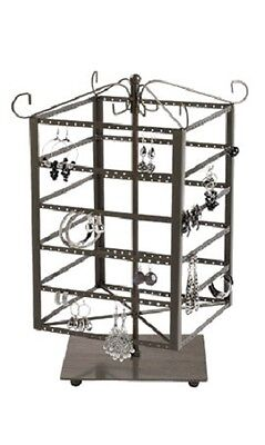 Earring Display Countertop Jewelry Carousel Steel Spinner Rotating Holds 192