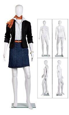White Female Mannequin 31 Bust 24 Waist 33 Hips 58 Tall Full Body