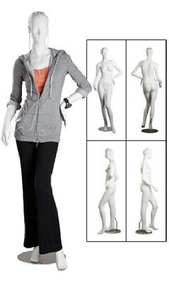 Mannequin Fiberglass Full Body Adult Female Posing Clothing Display Size 4