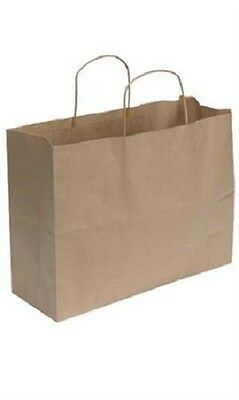 Kraft Paper Bags 250 Shopping 16 X 6 X 12 Vogue Retail Merchandise Gift