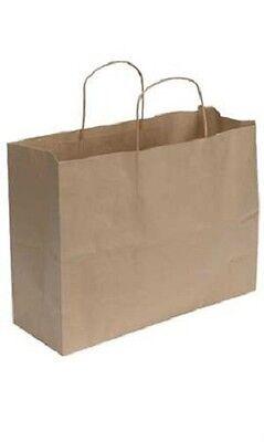 Kraft Paper Bags 250 Shopping 16 X 6 X 12 Vogue Retail Merchandise Gift