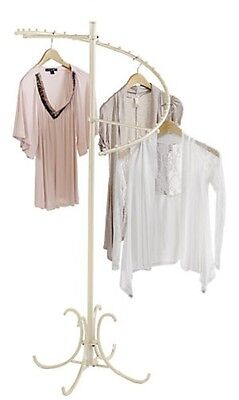 Spiral Clothing Rack Clothes Display 29 Ball Garment Fixture Ivory 63 High