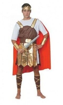 ADULT MENS GREEK ROMAN TROJAN SOLDIER GLADIATOR FANCY DRESS COSTUME - Trojan Man Costume