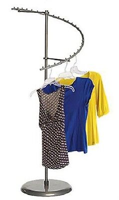 Clothing Rack Boutique Spiral Clothes Garment Retail Store Finial 29 Ball Steel