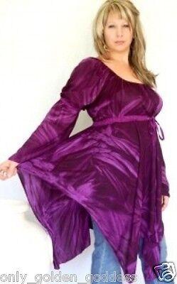 plum blouse top peasant renaissance one size M L XL 1X zk145 ()