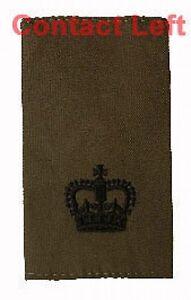 PAIR-Olive-Green-Major-RANK-SLIDES-Royal-Marines