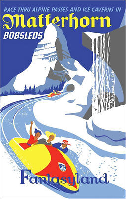 Disneyland Matterhorn Poster Disney Fantasyland - Buy Any 2 Get 1 Free